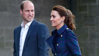 Prince William has enjoyed a low key celebration with Kate and the kids.