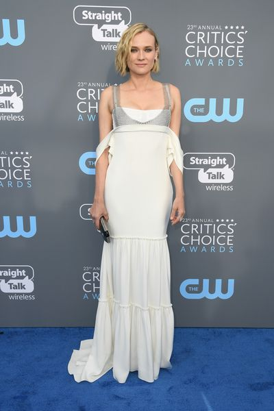 Actress Diane Kruger in Vera Wang at the 2018 Critics Choice Awards