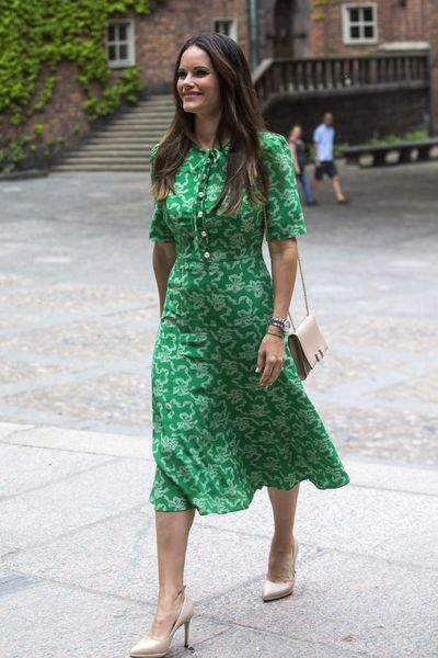 Princess Sofia of Sweden in Jenny Packham at the Sophiahemmet University's graduation ceremony inStockholm, June, 2018