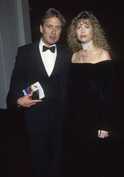 Michael Douglas and Diandra Douglas circa 1990 in New York City.