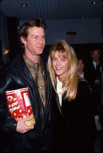 Dennis Quaid and Meg Ryan in 1990.