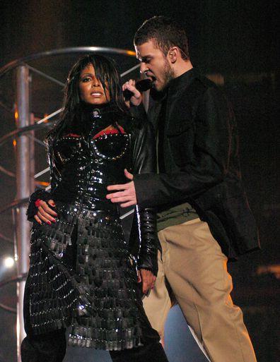 Janet Jackson,Justin Timberlake, perform, Super Bowl, nipple