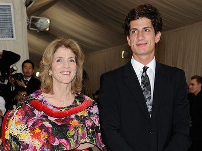 Jack Schlossberg and Caroline Kennedy at the 2017 Met Gala