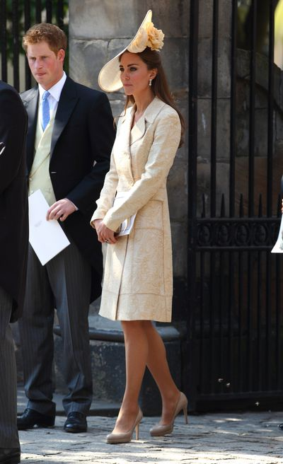 In July 2011, Kate stepped out for the wedding of Zara Phillips and Mike Tindall. The Duchess of Cambridge stunned in a DAY Birger et Mikkelsen getup.