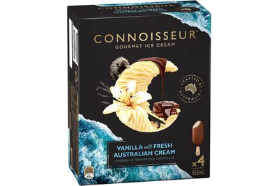 Connoisseur Vanilla: 25.4g — more than 6 teaspoons