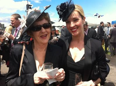 Louise Momber with her mum