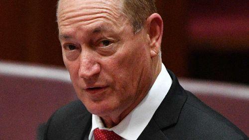 Katter Australia Party senator Fraser Anning raised eyebrows with his maiden speech.