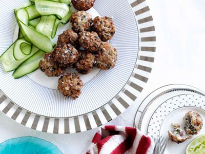 Chicken and lime leaf fritters