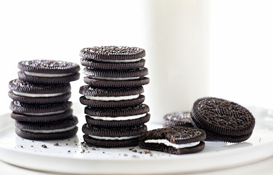 Oreo biscuits stock image