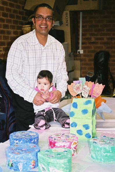 Raj and Yasmin party