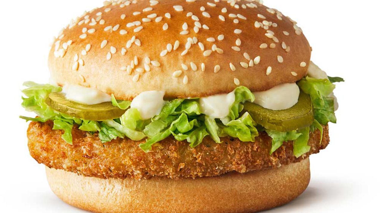 The new McDonald's McVeggie burger... not strictly vegetarian