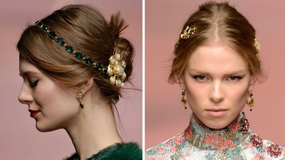 <p>Hair accessories were all over the Fall runways earlier this year with the likes of Dolce &amp; Gabbana, Chanel and Prada all giving this trend a whirl. Trick up your look by adorning your locks with opulent combs, bejewelled headbands and super pretty pins.</p>
