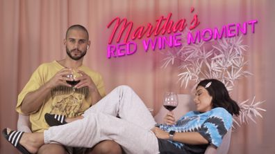 Martha's Red Wine Moment #7 from the Girls' and Boys' Nights