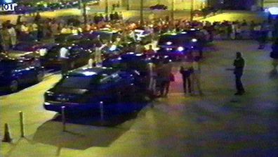The front of the Ritz Hotel in Paris is seen in security video taken in the early hours of Sunday morning, on August 31, 1997. As the cars pictured here waited, Diana, Princess of Wales, and her companion Dodi Fayed, departed the hotel by a side door. (AAP)