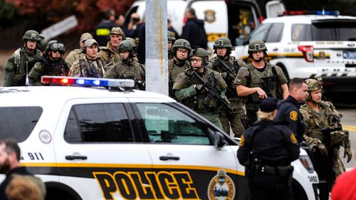 A law enforcement official has identified the suspect as a man as his 40s by the name of Robert Bowers.
