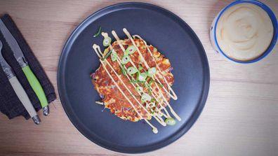 Okonomiyaki pancakes are a perfect use for leftover veggies