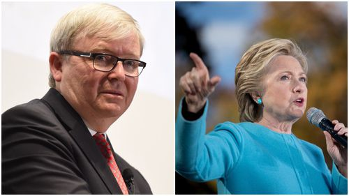 Kevin Rudd caught in Clinton email hack