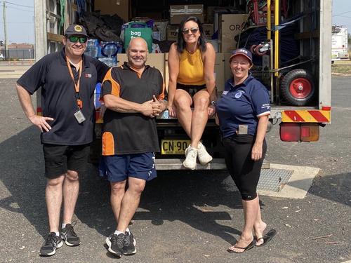 Emma Husar travelled to Mogo with supplies for the bushfire-affected town.