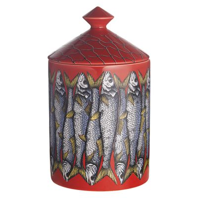 """<a href=""""http://mecca.com.au/fornasetti/sardine-rosso-candle/V-022951.html"""" target=""""_blank"""">Fornasetti Sardine Rosso Candle, $225.</a>"""