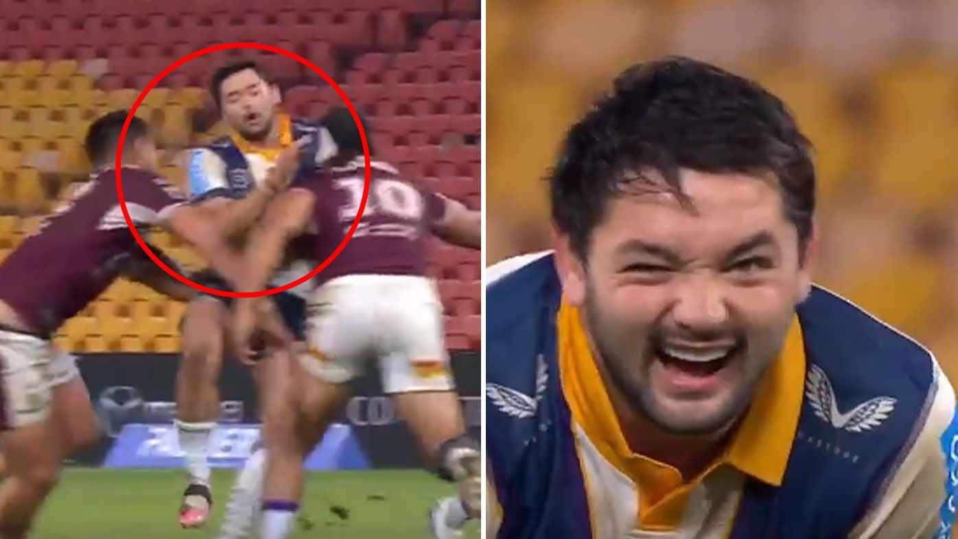 Manly penalised for off the ball tackle on Brandon Smith