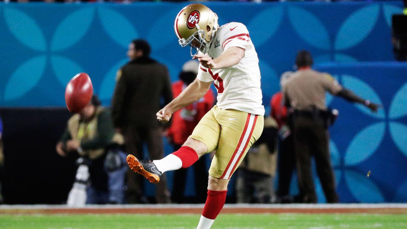 Aussie San Francisco 49ers rookie Mitch Wishnowsky kicks off Super Bowl 54