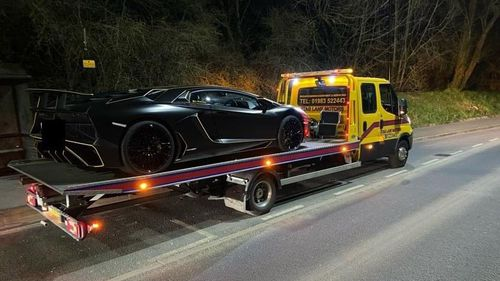 UK police seize luxury supercar after owner paid no tax