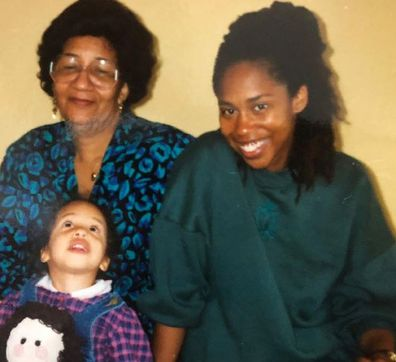 Trisha Goddard with mother Angus and daughter