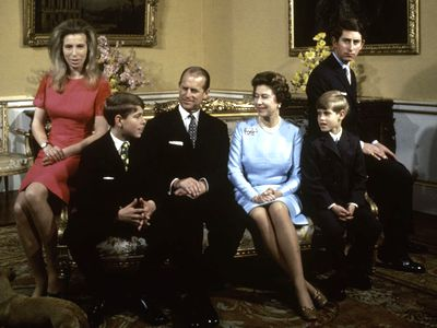 The Queen, Prince Philip and their children