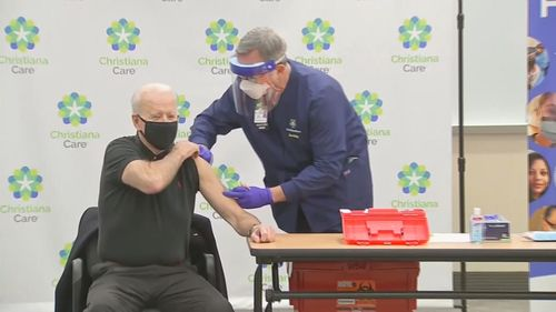 President-elect Joe Biden emphasied the importance of wearing masks, social distancing and washing hands to help control the coronavirus pandemic after he took his second dose of the COVID-19 vaccine.