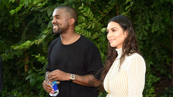 Kanye West and wife Kim Kardashian have plans ... mighty big plans. Image: Getty.