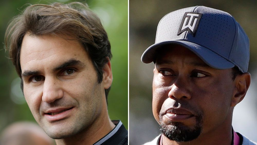 Tiger Woods is looking to Roger Federer for motivation. (AAP)