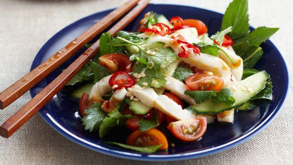 Thai squid salad for $10