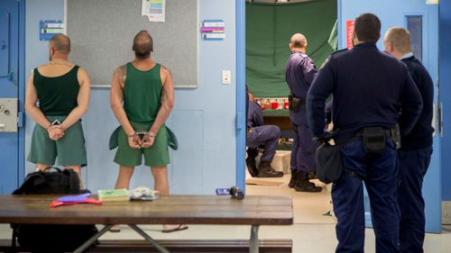 Raids were carried out in the prison after a video was posted that showed an inmate in possession of contraband.  (AAP)
