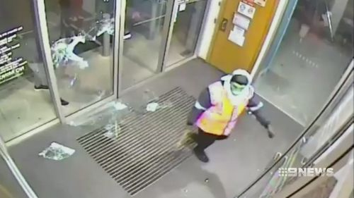 The robbers were caught on CCTV.