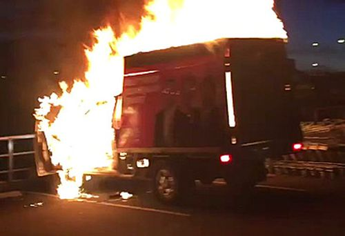 One Nation truck in flames (One Nation/Twitter)