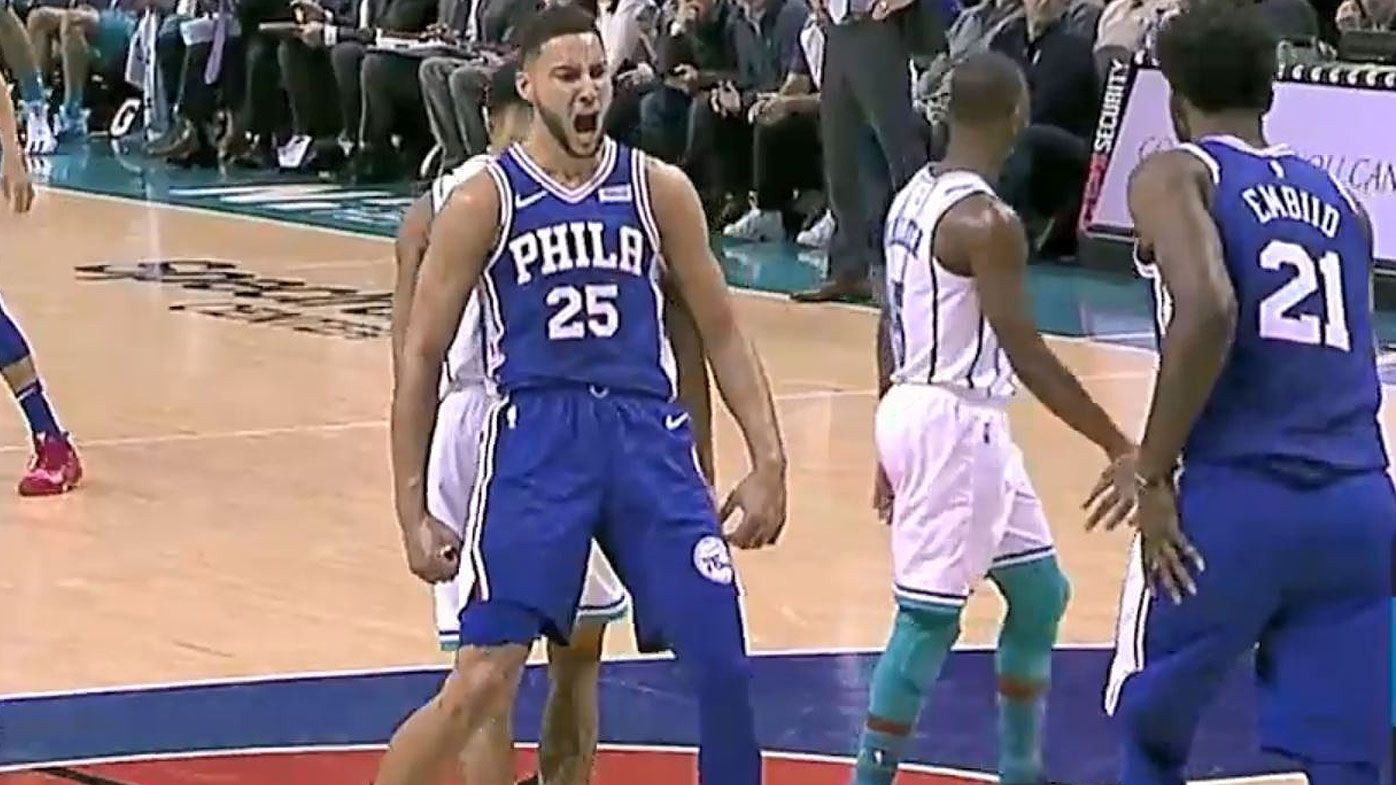NBA: Ben Simmons stars in Philadelphia 76ers win over Charlotte Hornets as Jimmy Butler drains OT three