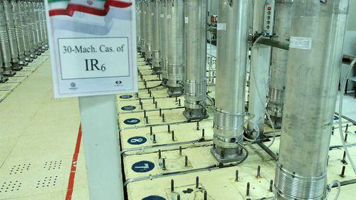 Centrifuge machines in the Natanz uranium enrichment facility in central Iran.