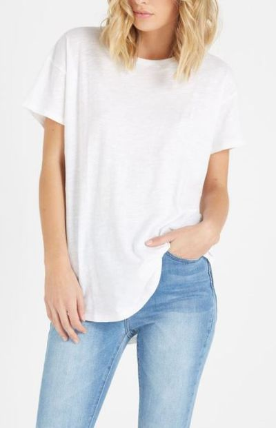 "The essential tee -&nbsp;Cotton On<br /> <br /> No matter how much Napisan you use, keeping white T-shirts pure is more difficult than keeping a Kardashian away from a camera. That&rsquo;s why it&rsquo;s important to have a stock of affordable fresh white T-shirts at your disposal.<br /> <br /> Australian success story Cotton On regularly comes to the rescue, this time with their Boyfriend Crew Tee. The main appeal here is the price tag, with $17.95 a small price to pay for looking as crisp as a hospital bedsheet.<br /> <br /> With a slouchy fit, the 100 per cent cotton T-shirt has a relaxed curved hem and longer length for muffin top prevention.<br /> <br /> Cotton On, <a href=""https://cottonon.com/AU/the-one-boyfriend-crew-tee/2003003-13.html?dwvar_2003003-13_color=2003003-13&amp;cgid=womens-t-shirts&amp;originalPid=2003003-13#start=8"" target=""_blank"" draggable=""false"">The One Boyfriend CrewTee</a>, $17.95"