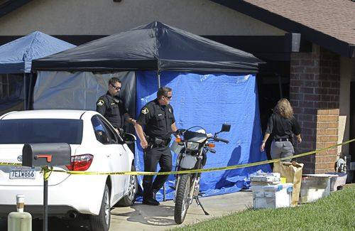 Police have been going through DeAngelo's Sacramento home as part of the investigation. (AAP)