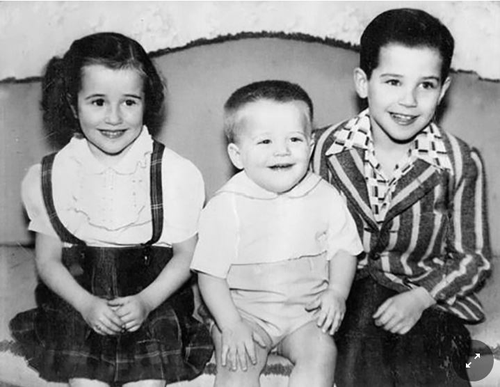 Joe Biden as a youngster, pictured far right. Picture: Biden campaign 2020