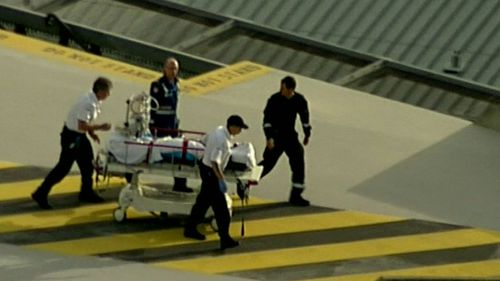 Two men, with burns to 30 and 60 percent of their body, were airlifted to Royal North Shore Hospital. (9NEWS)
