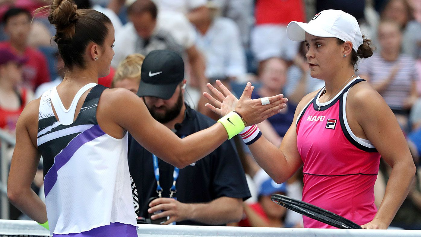 Ash Barty continues through to the next round at the US Open