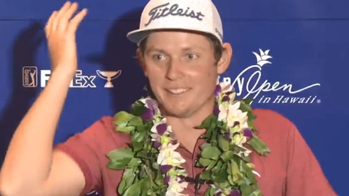 US reporter stuns Aussie Sony Open winner Cameron Smith with question about NRL star namesake