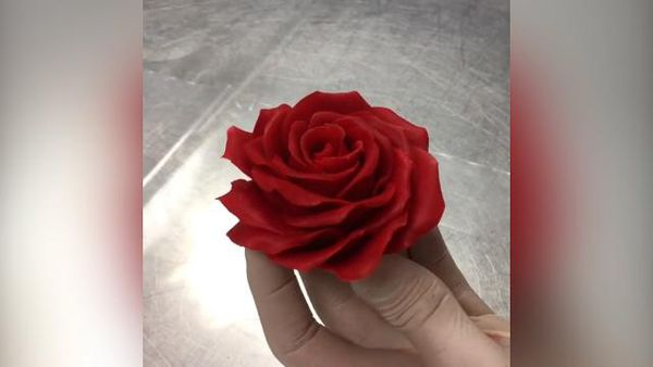 People are swooning over this chef's life-like chocolate rose tutorial
