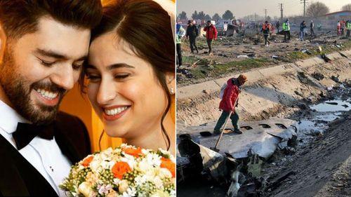 Newlyweds Pouneh Gorji, 25, and Arash Pourzarabi, 26, were on the flight. (Facebook)
