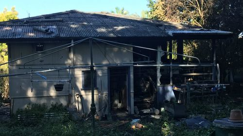 The home was severely damaged in the blaze. (9NEWS)