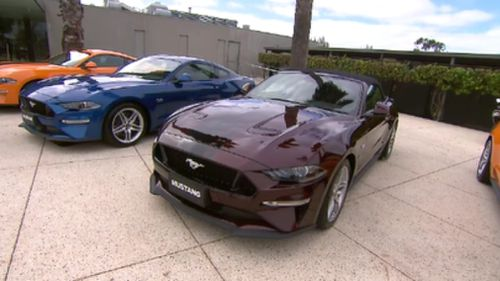Mustang's new 2019 model inspired the racing version. (9NEWS)