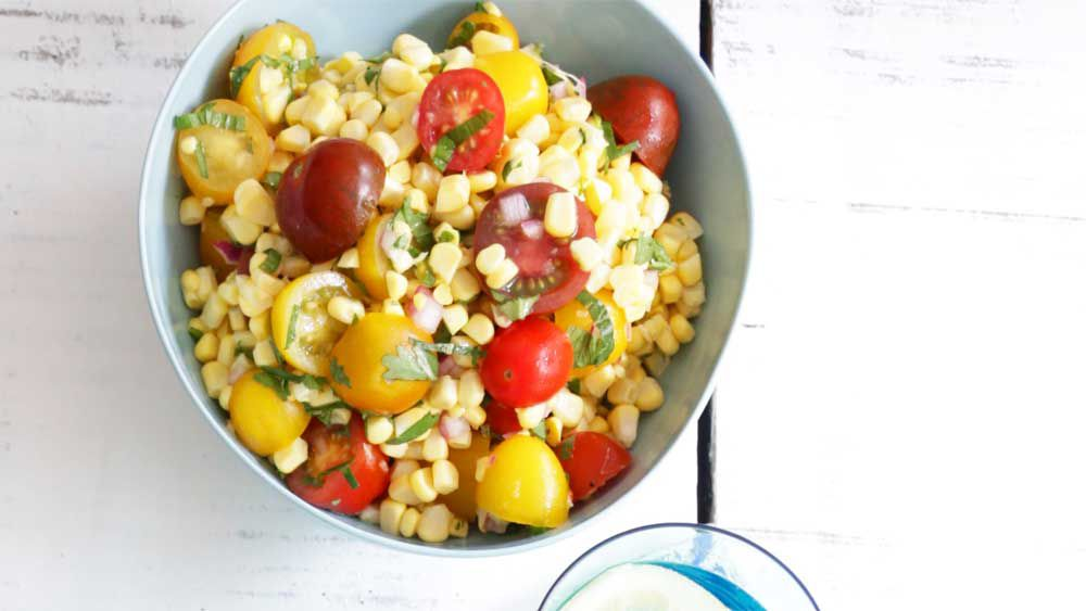Fresh corn and cherry tomato salad recipe