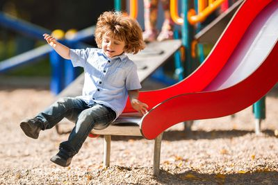 Kids are way more likely to be injured on playground slides if they ride down in a parent's lap