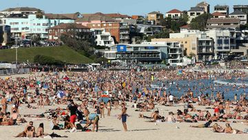 As coronavirus was spreading rapidly around the world, thousands of Australians packed onto Bondi Beach.